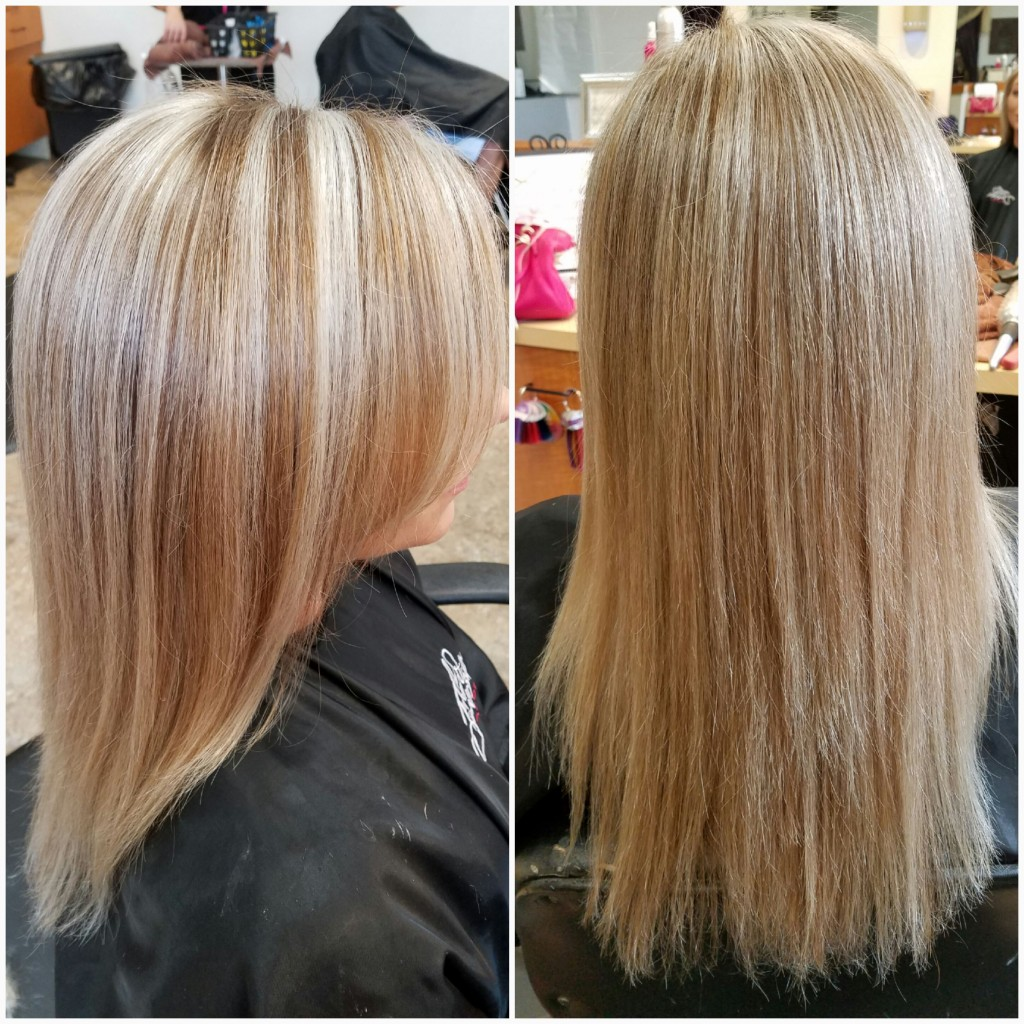 Chunky to blended ashy blonde foil