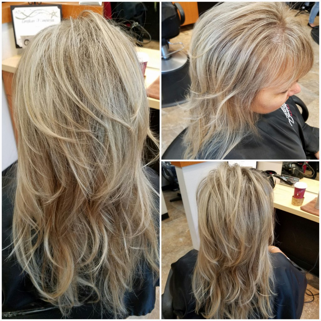 Blended natural ashy blonde foil