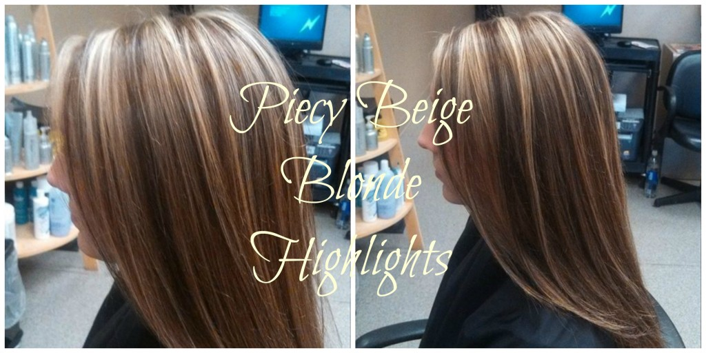 Piecy Beige blonde highlights