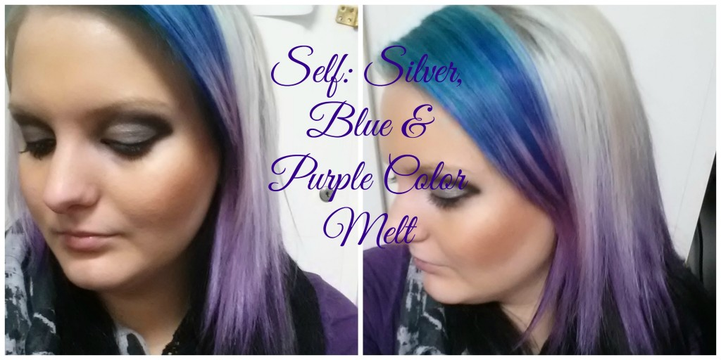 silver blue and purple color melt