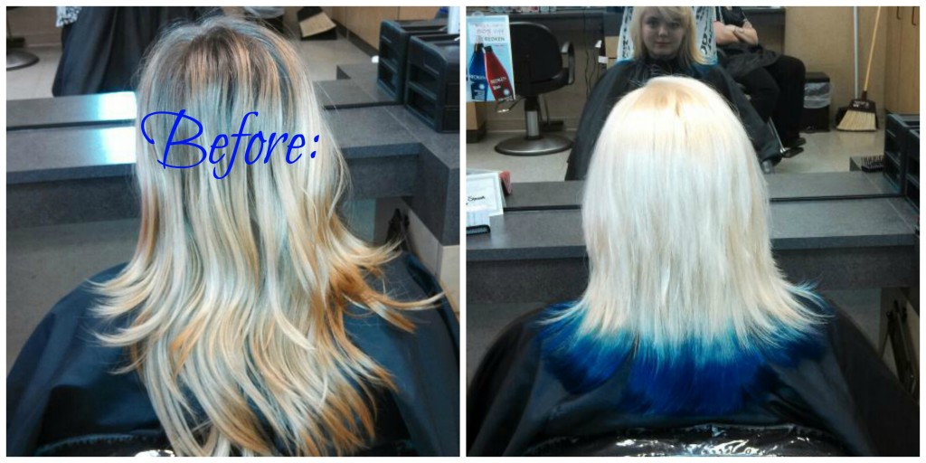 Icy Blonde w Blue tips B&A