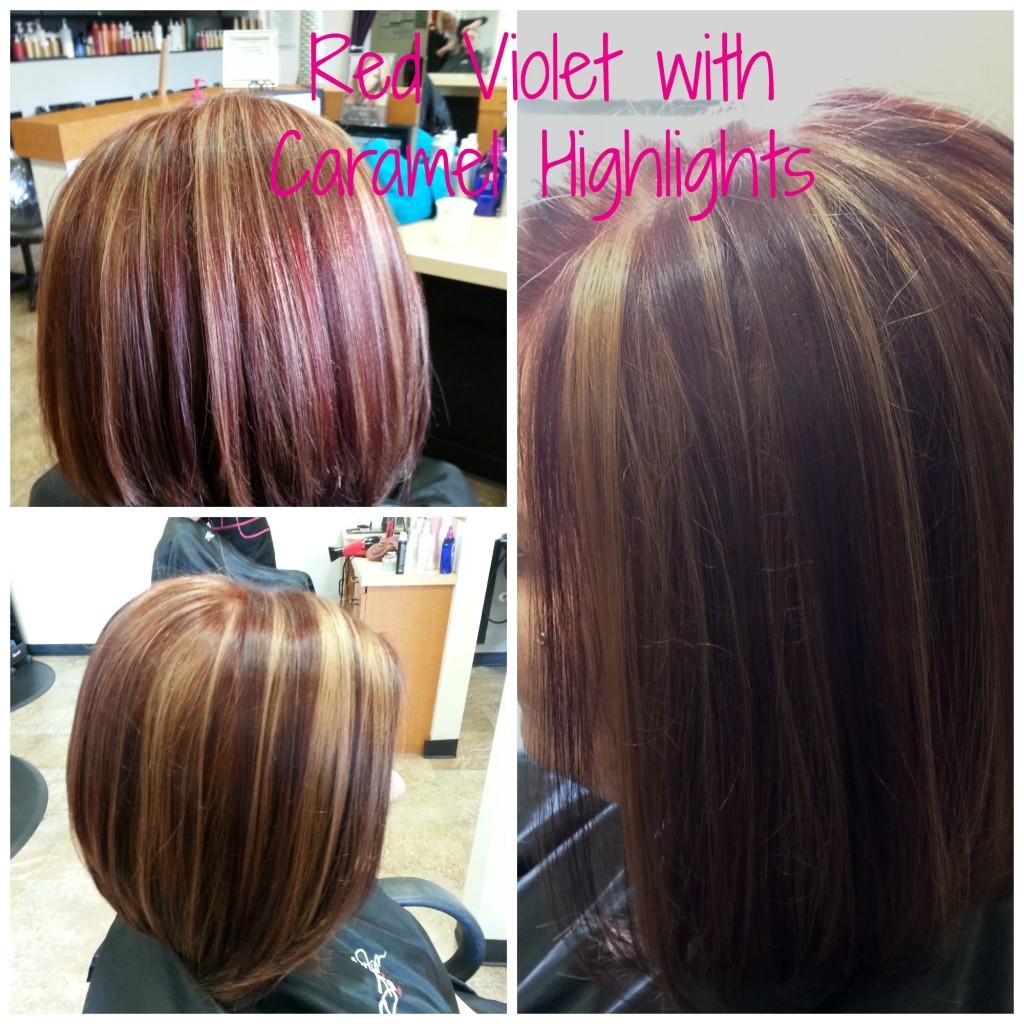 Red violet w caramel foil-2